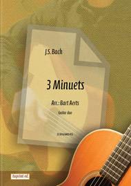 3 Bach menuets for guitar duo